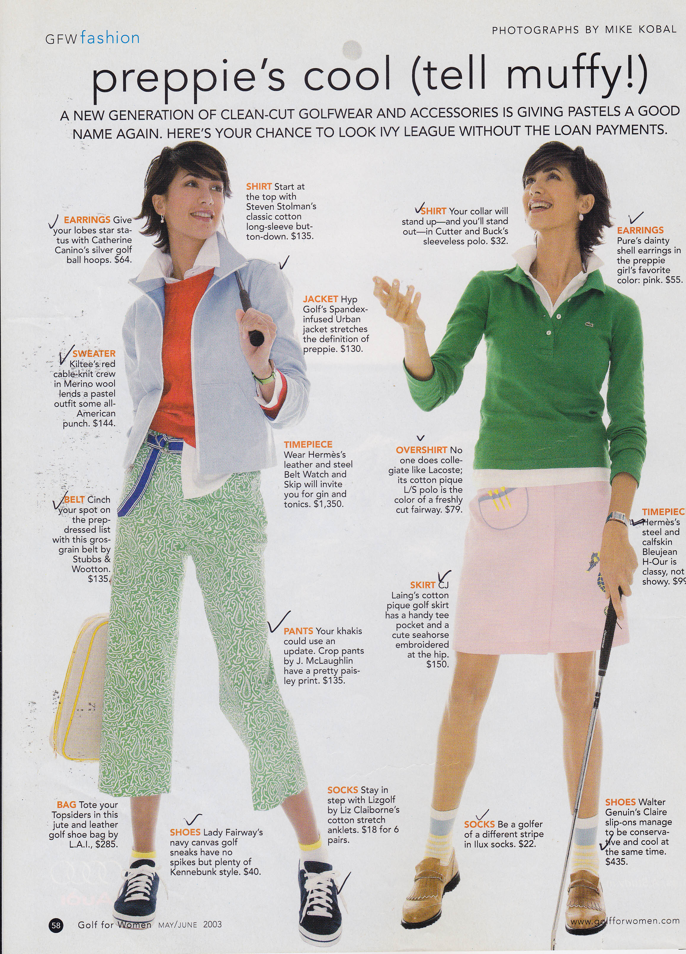 May 2003 Golf For Women Magazine