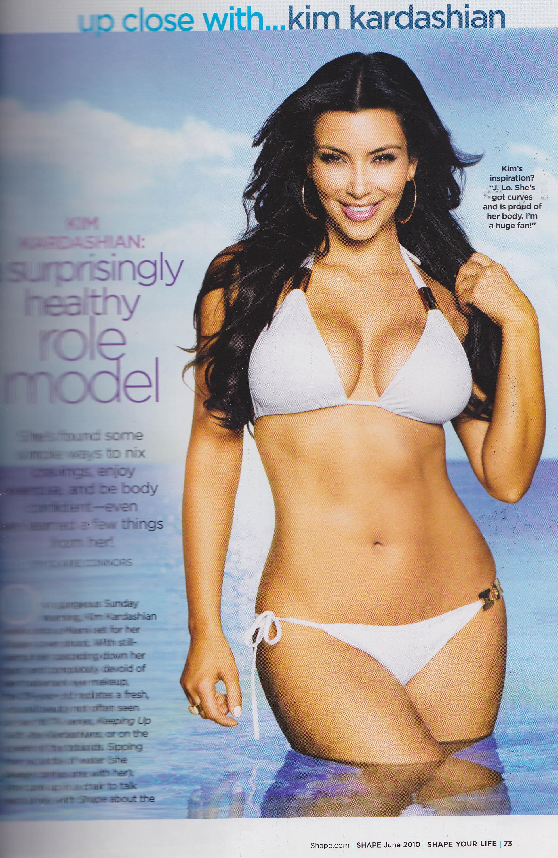 Kim Kardashian wearing XL Mod Hoops