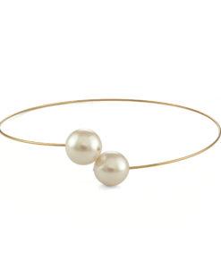 Big Pearl Wire Collar