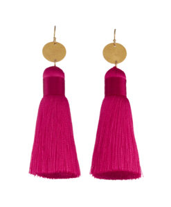 Medium Hot Pink Tassles