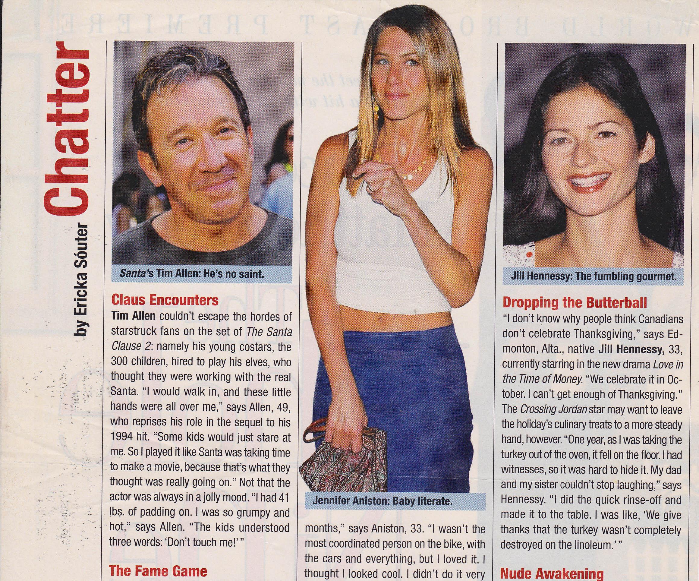 November 2002 People Magazine
