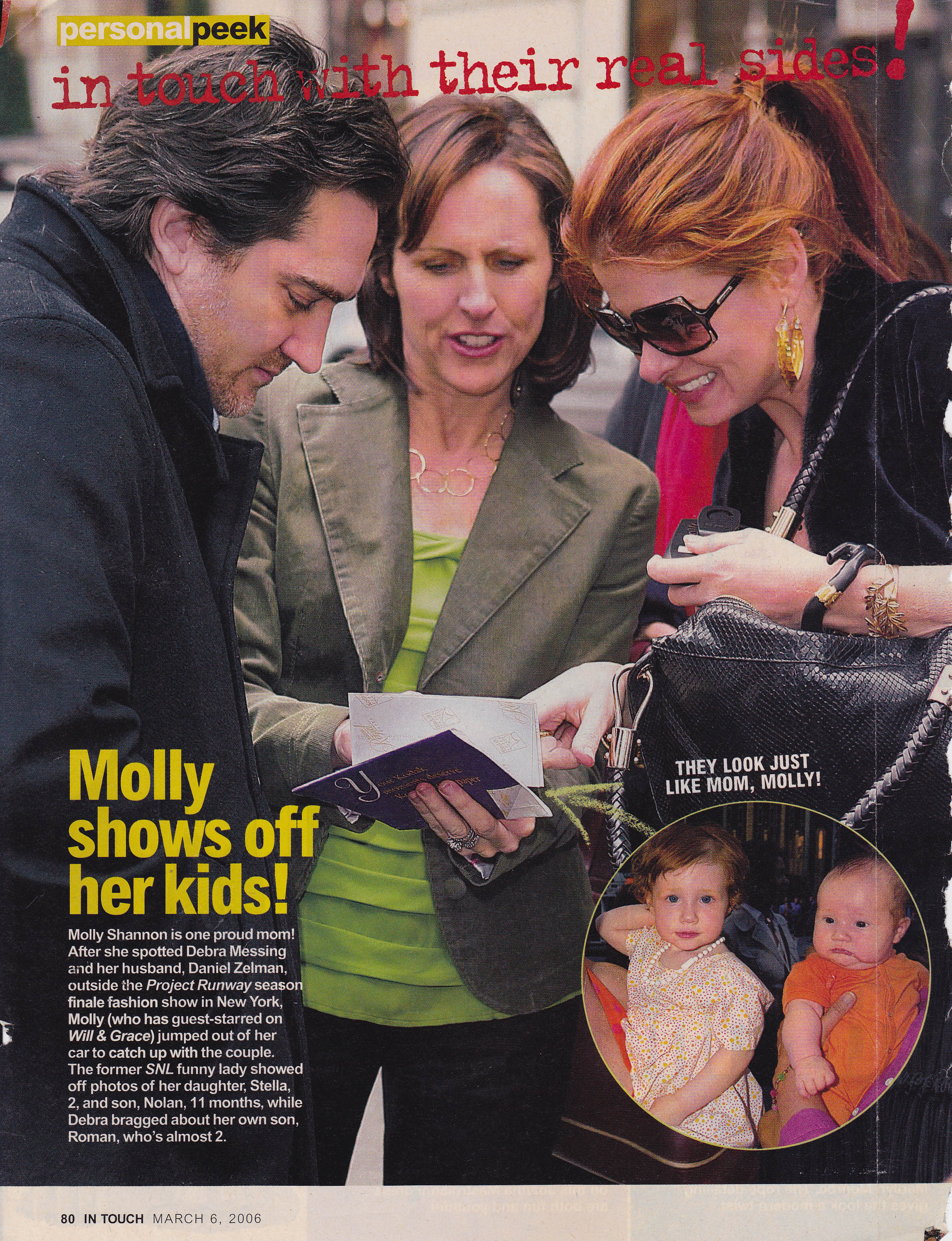 Molly Shannon wearing Circle Chain Necklace