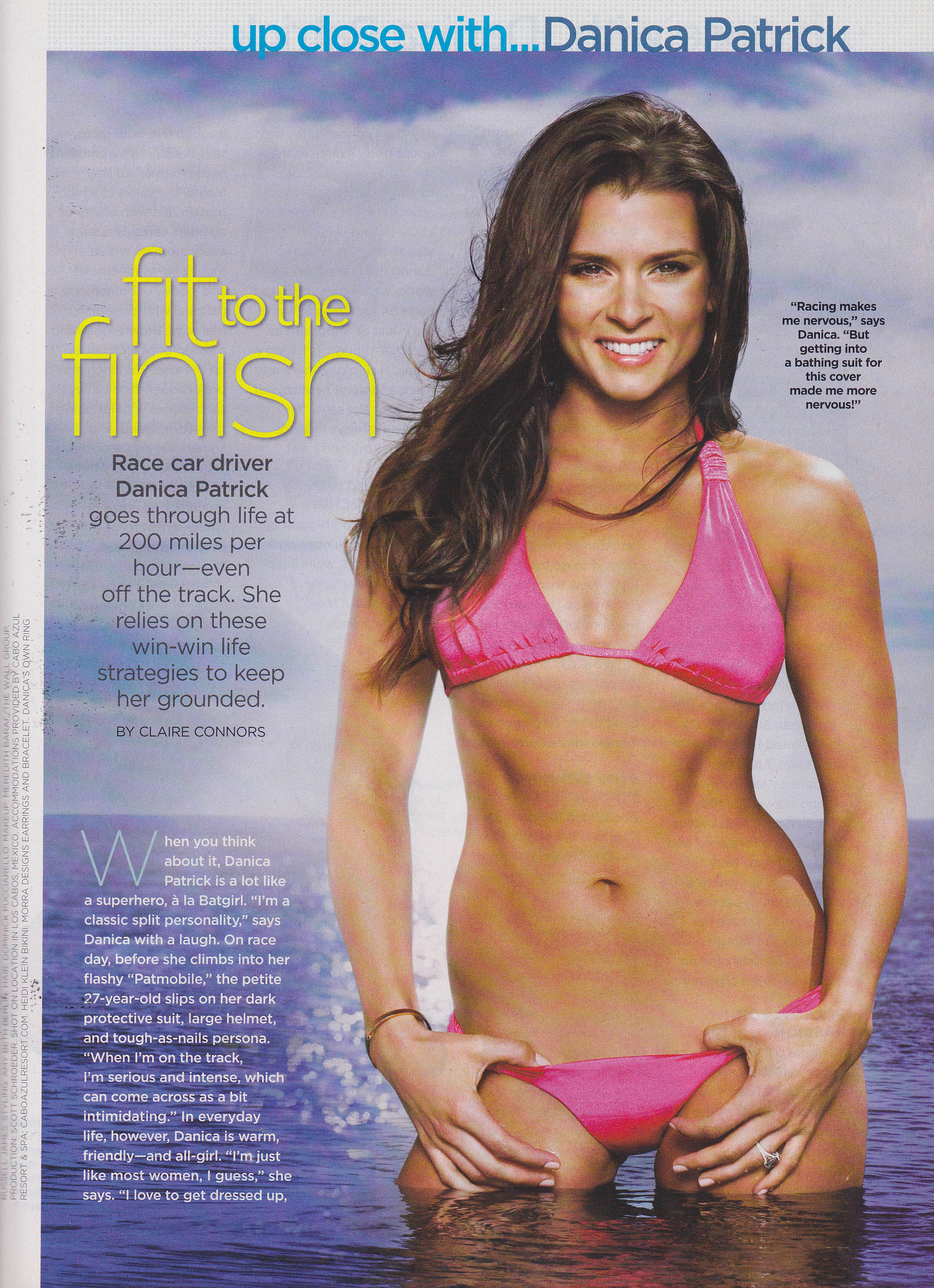 Danica Patrick wearing XL Mod Hoops