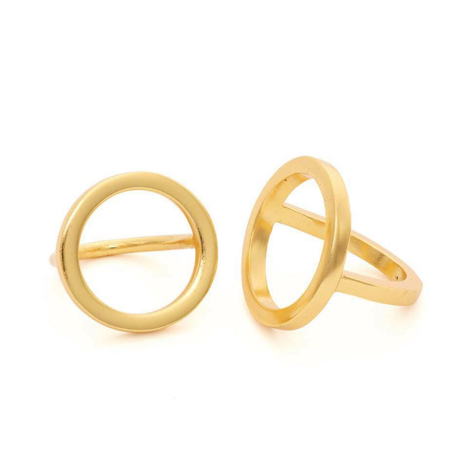 circle ring, gold, jewelry