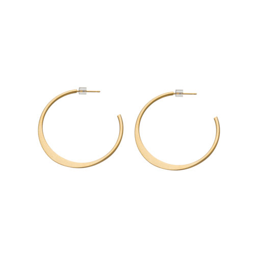 mod, hoops, gold, small