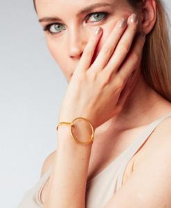 circle, bracelet, gold