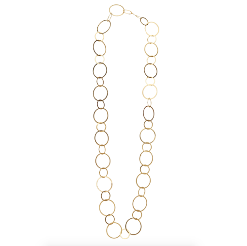 chain, necklace, circles, metal, jewelry