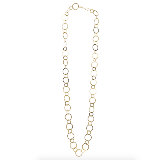 chain, necklace, circles, metal