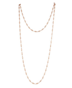 chain, necklace, rose gold, metal, jewelry