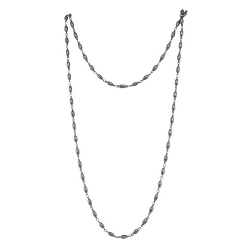 chain, necklace, ruthenium, metal, jewelry